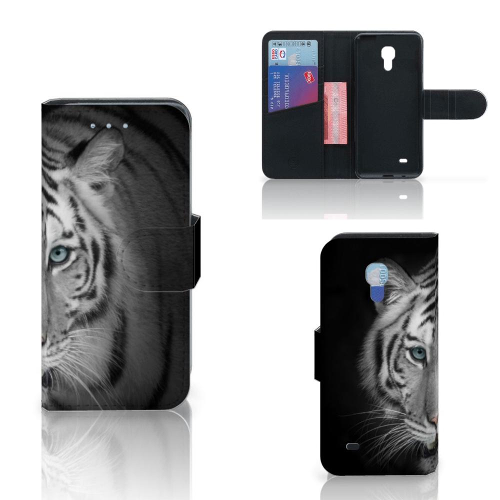 Samsung Galaxy S4 Mini i9190 Telefoonhoesje met Pasjes Tijger