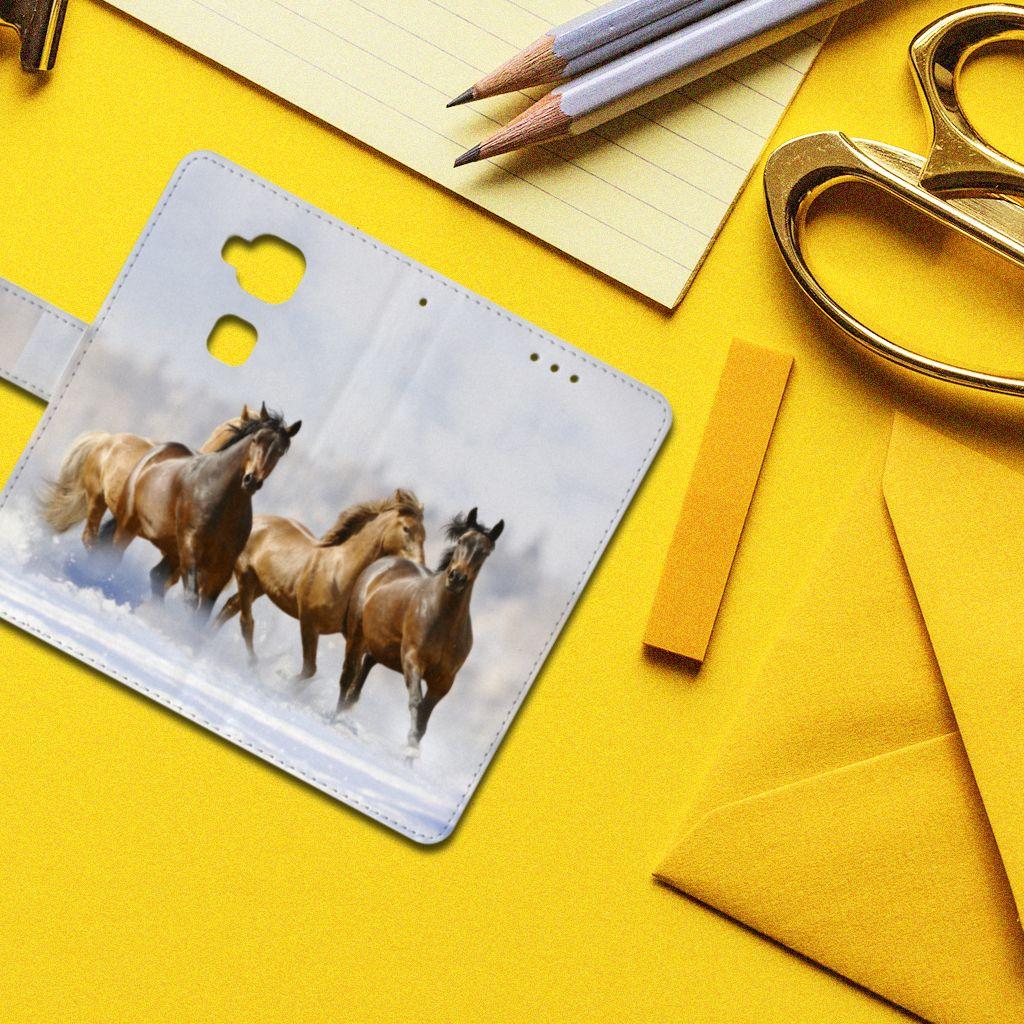 Huawei G8 Telefoonhoesje met Pasjes Paarden