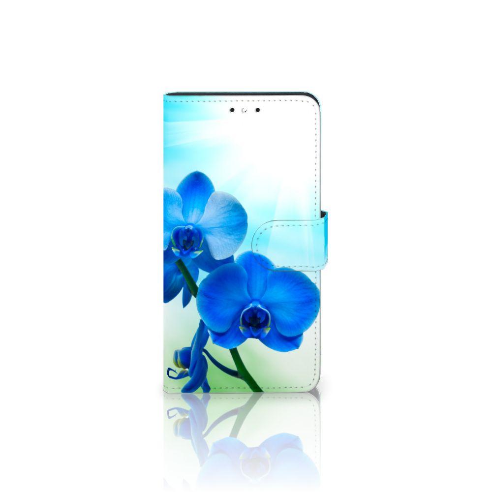 Motorola Moto G5S Plus Boekhoesje Design Orchidee Blauw