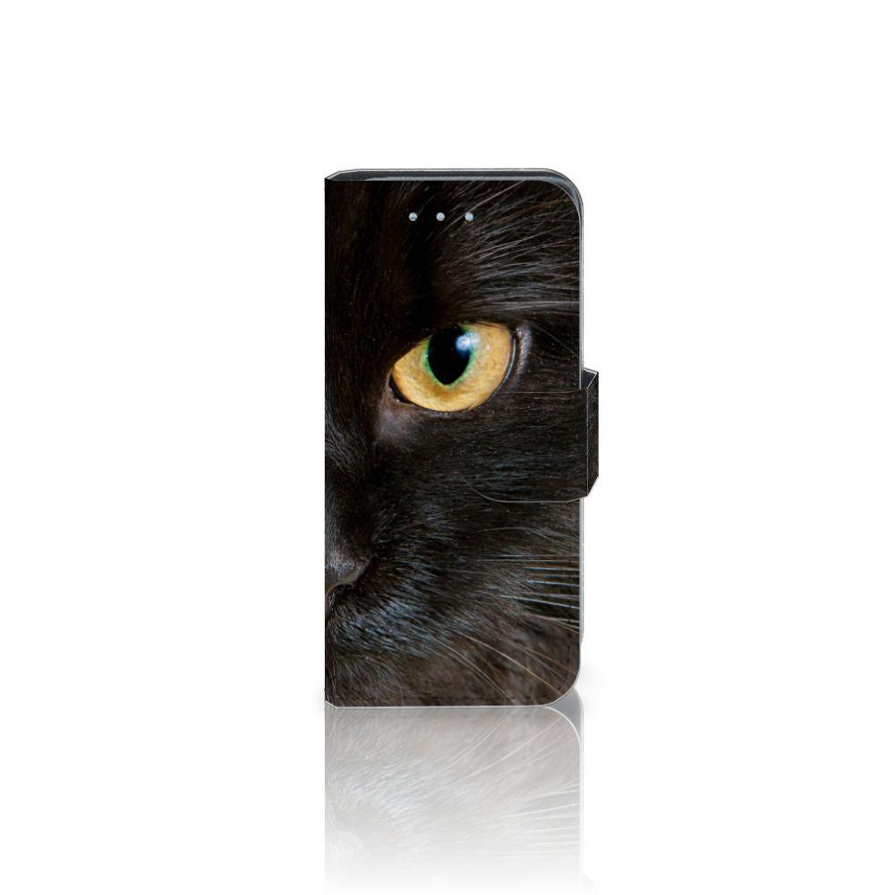 Samsung Galaxy S4 Mini i9190 Uniek Boekhoesje Zwarte Kat