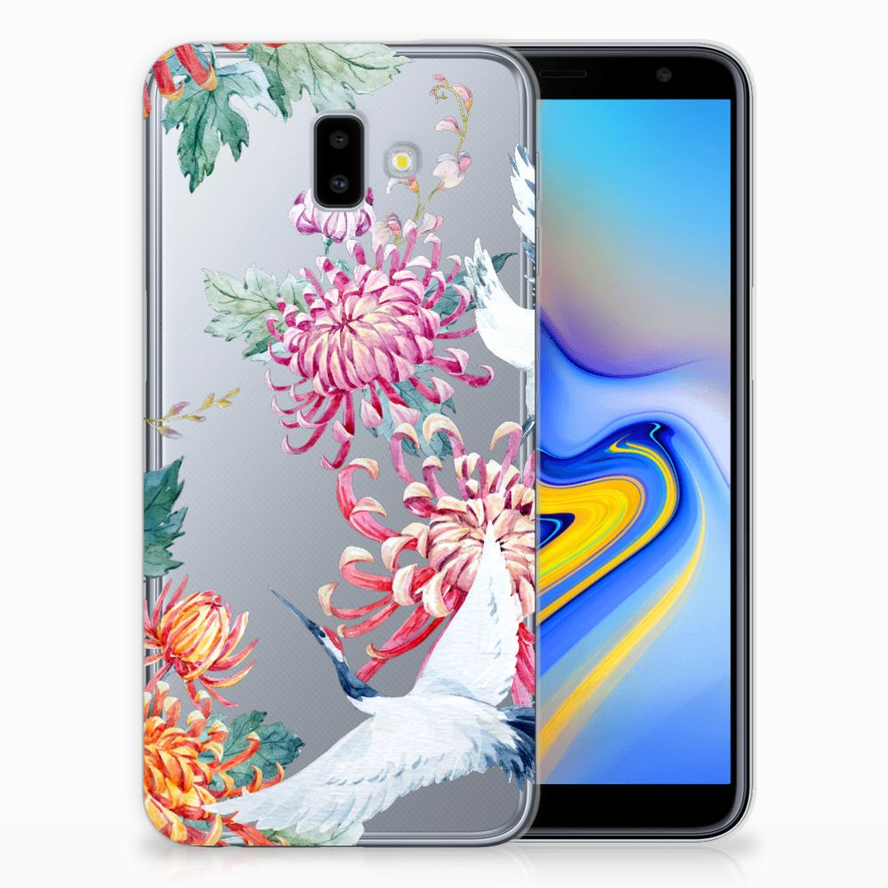 Samsung Galaxy J6 Plus (2018) TPU Hoesje Bird Flowers