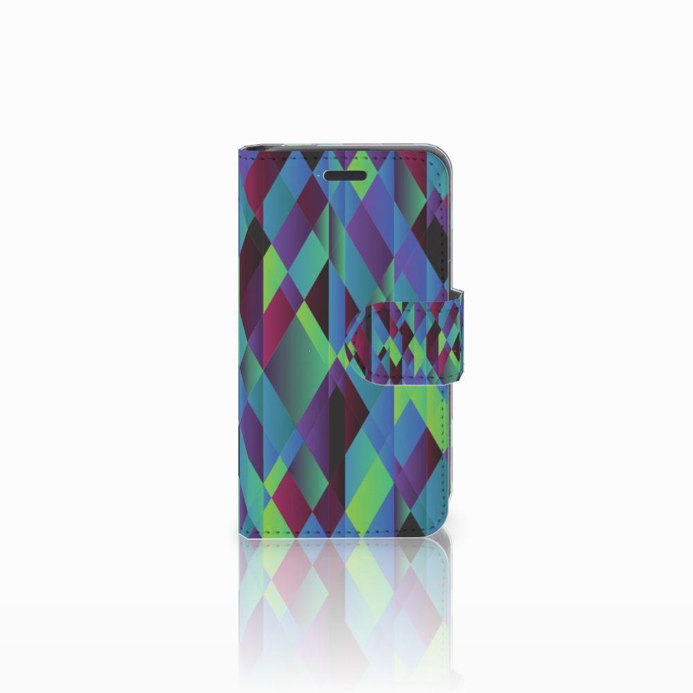 Nokia Lumia 520 Bookcase Abstract Green Blue