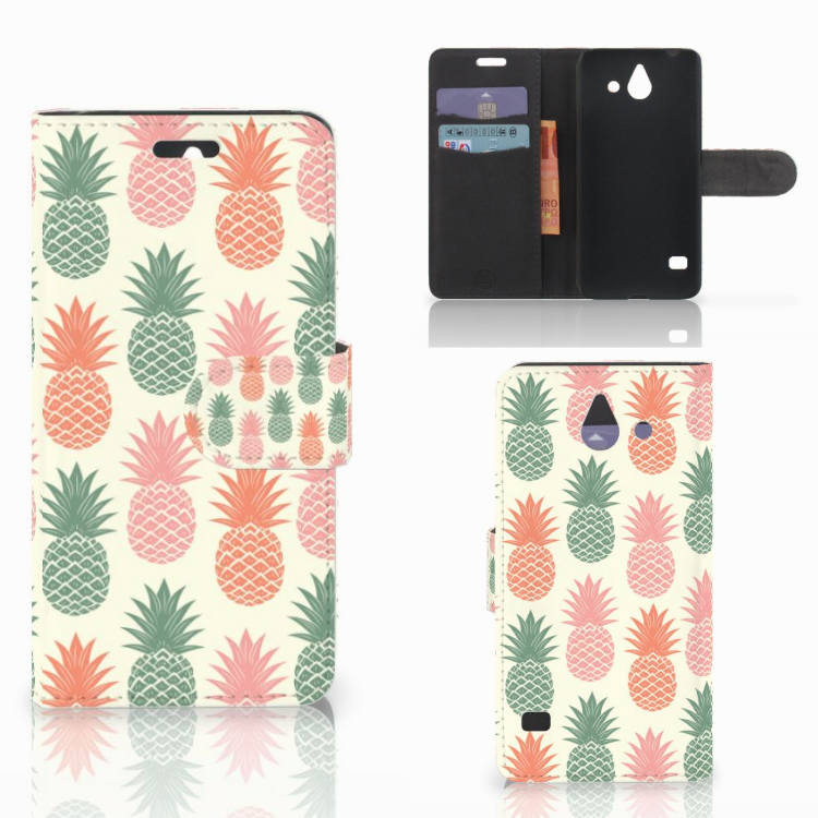 Huawei Ascend Y550 Book Cover Ananas
