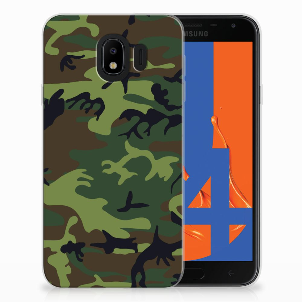 Samsung Galaxy J4 2018 TPU Hoesje Design Army Dark