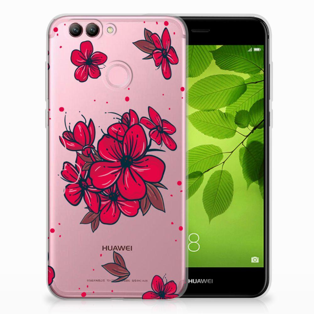 Huawei Nova 2 TPU Hoesje Design Blossom Red