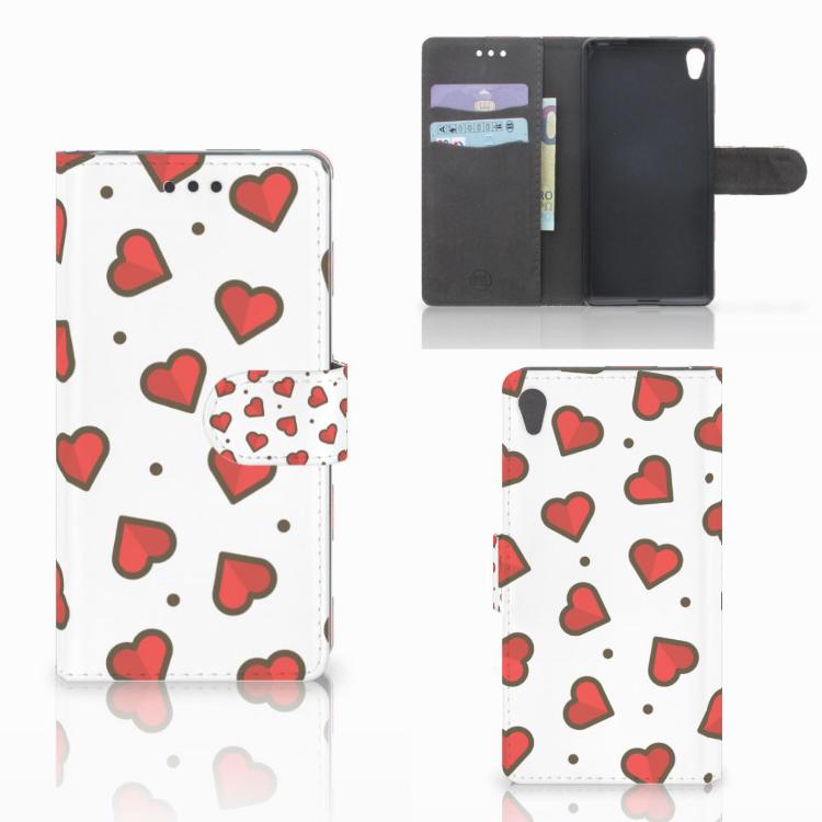 Sony Xperia E5 Telefoon Hoesje Hearts