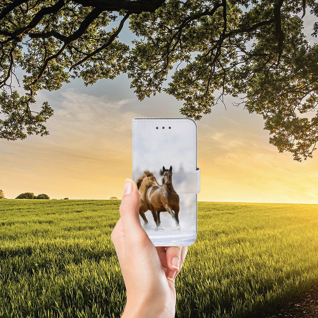 Samsung Galaxy J3 2016 Uniek Boekhoesje Paarden