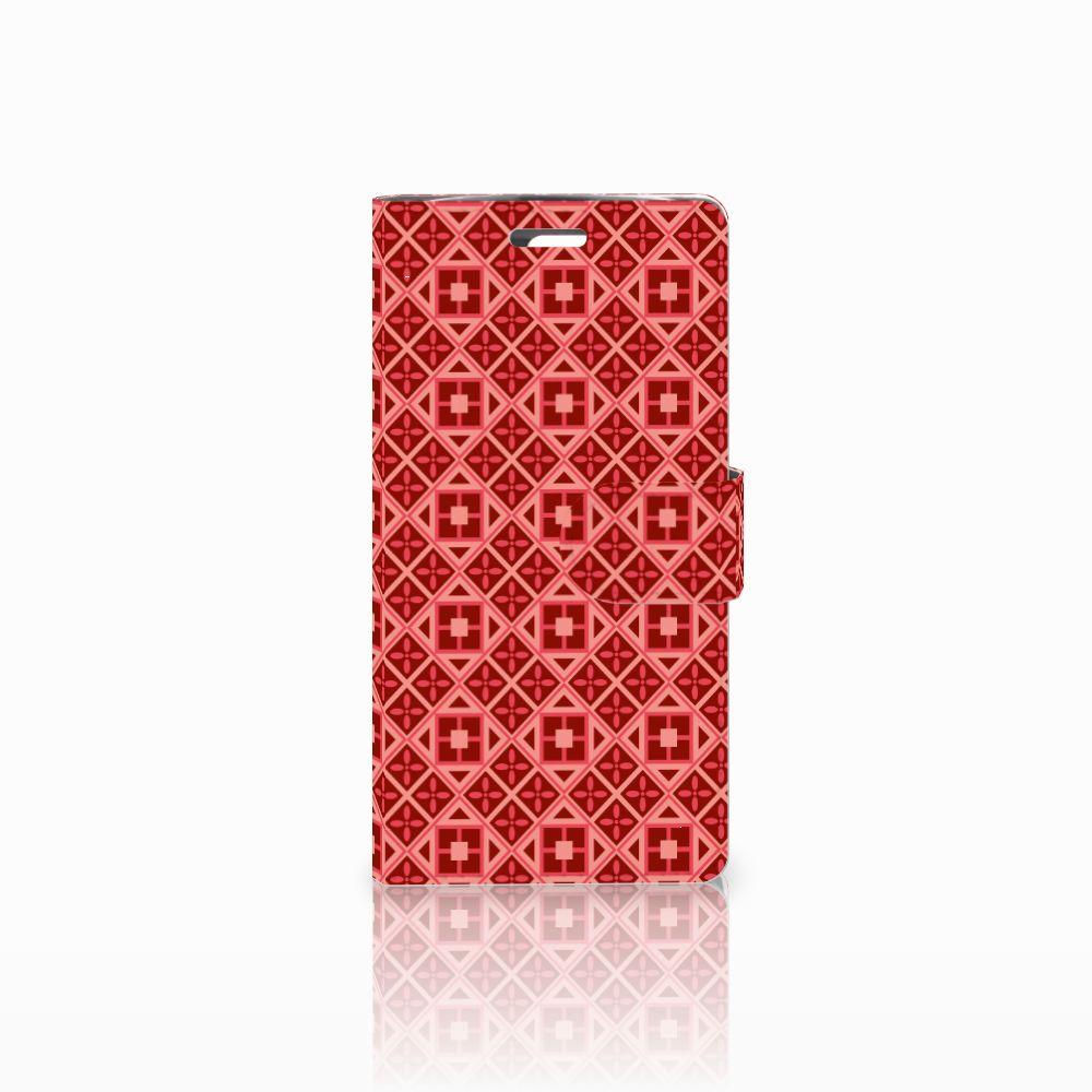 LG K10 2015 Uniek Boekhoesje Batik Red