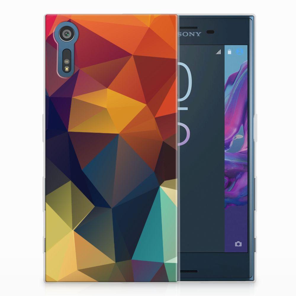 Sony Xperia XZs | XZ TPU Hoesje Design Polygon Color