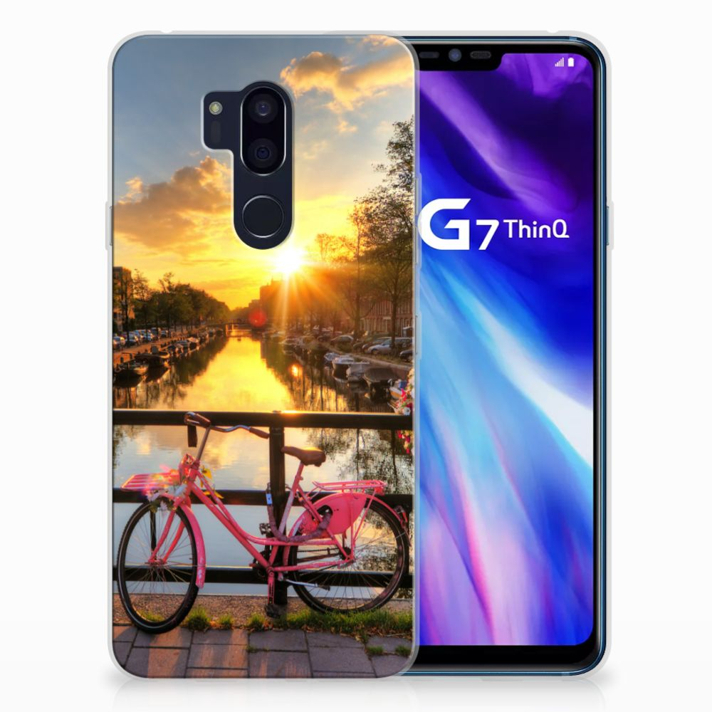 LG G7 Thinq Uniek TPU Hoesje Amsterdamse Grachten