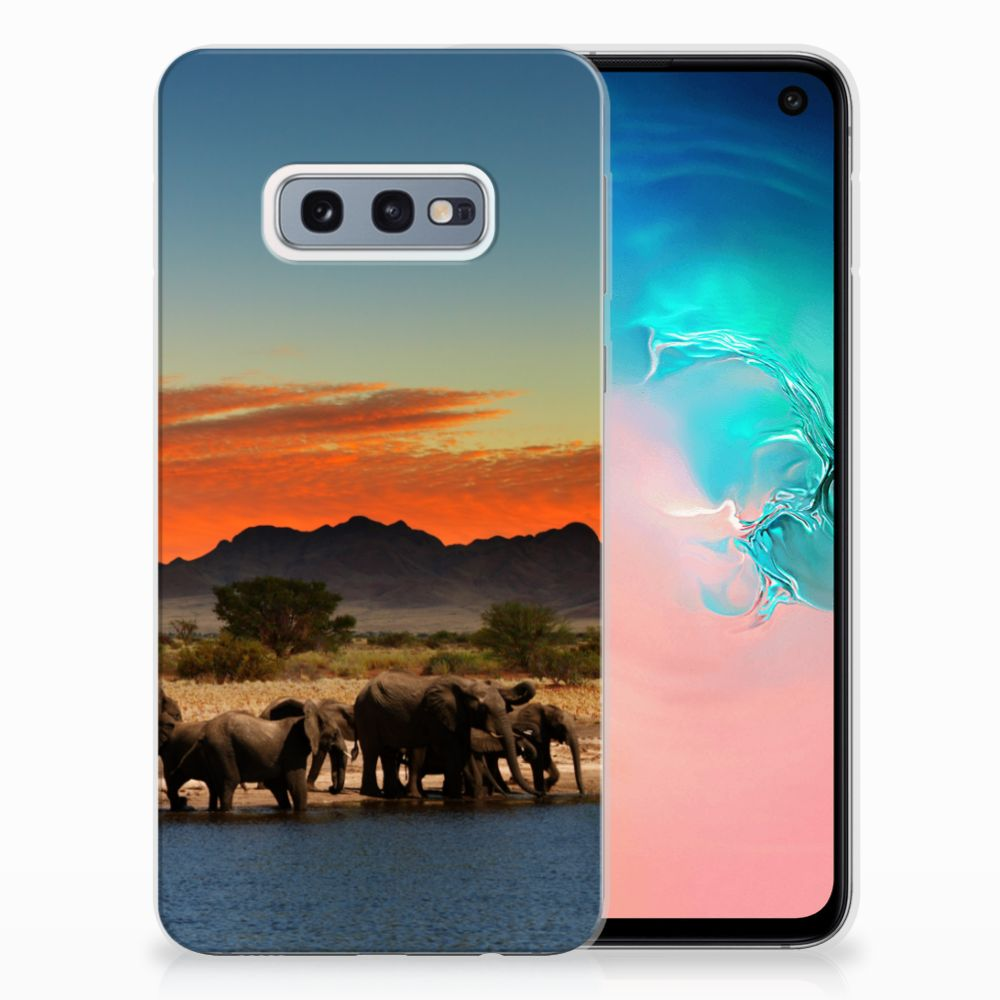 Samsung Galaxy S10e TPU Hoesje Design Olifanten