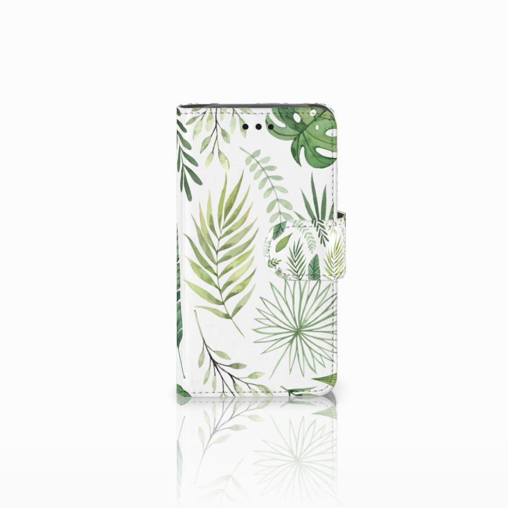 Samsung Galaxy Core i8260 Uniek Boekhoesje Leaves