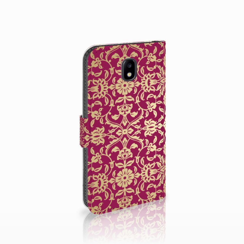 Samsung Galaxy J5 2017 Boekhoesje Design Barok Pink