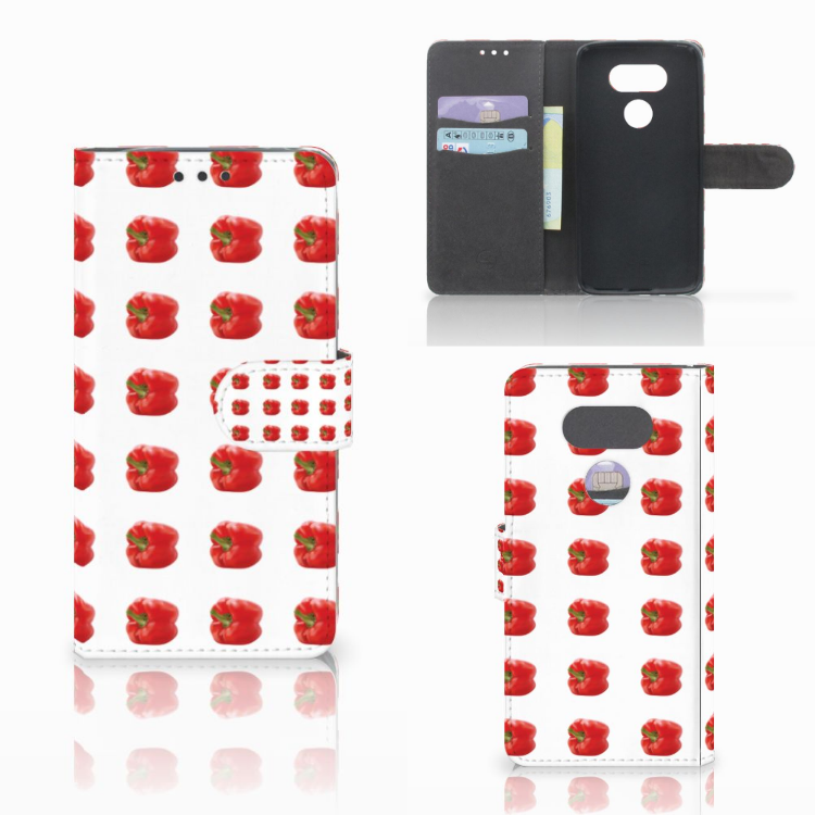 LG G5 Book Cover Paprika Red