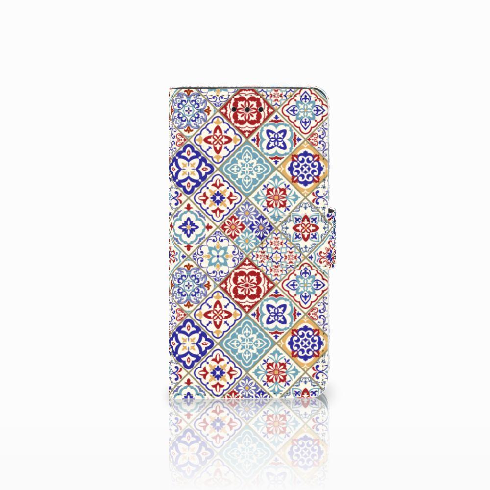 Huawei Y5 2018 Uniek Boekhoesje Tiles Color
