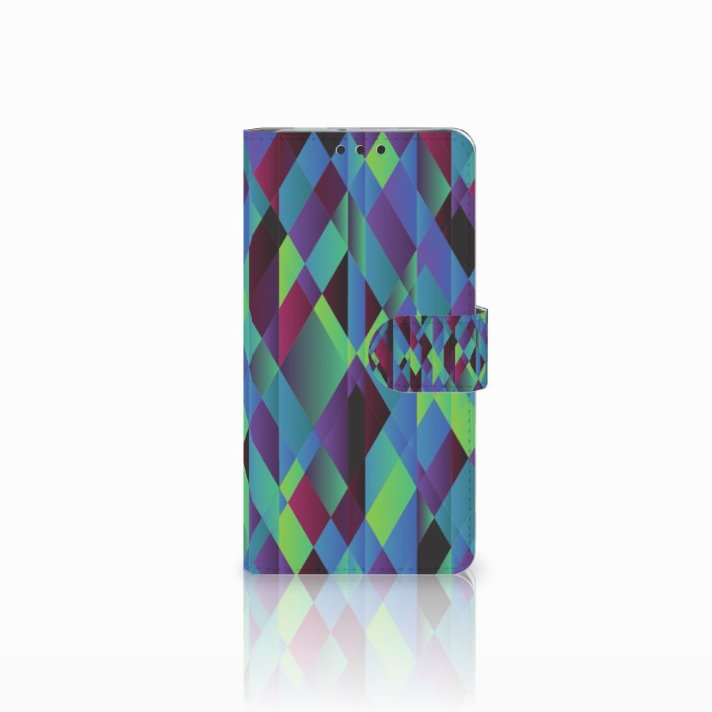 LG V30 Boekhoesje Design Abstract Green Blue