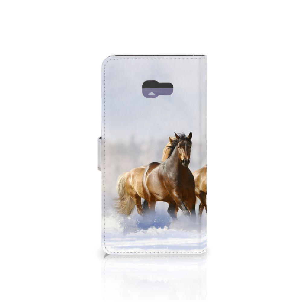 Samsung Galaxy A7 2017 Telefoonhoesje met Pasjes Paarden