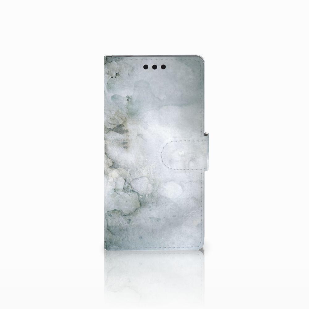 Sony Xperia M4 Aqua Uniek Boekhoesje Painting Grey