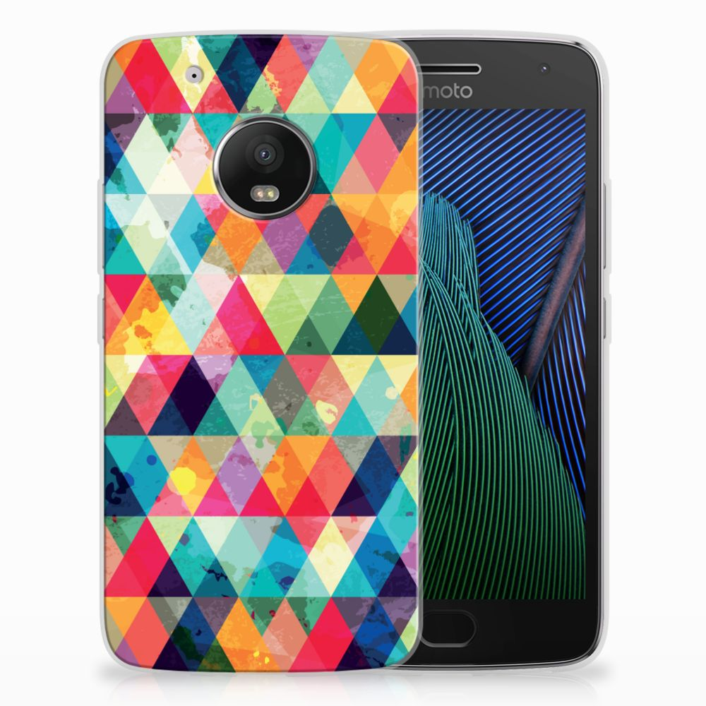 Motorola Moto G5 Plus Uniek TPU Hoesje Geruit