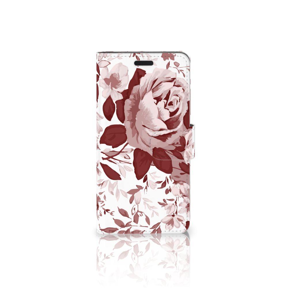 HTC 10 Uniek Boekhoesje Watercolor Flowers