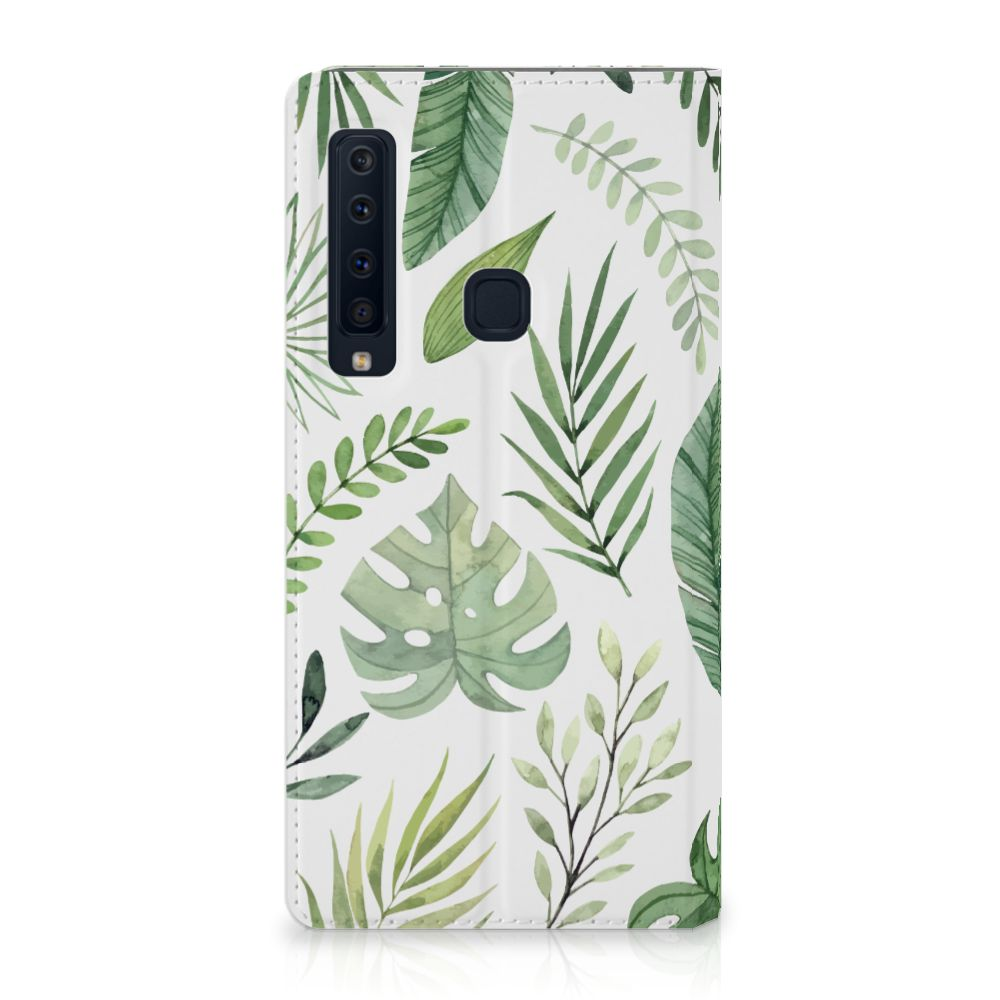 Samsung Galaxy A9 (2018) Uniek Standcase Hoesje Leaves