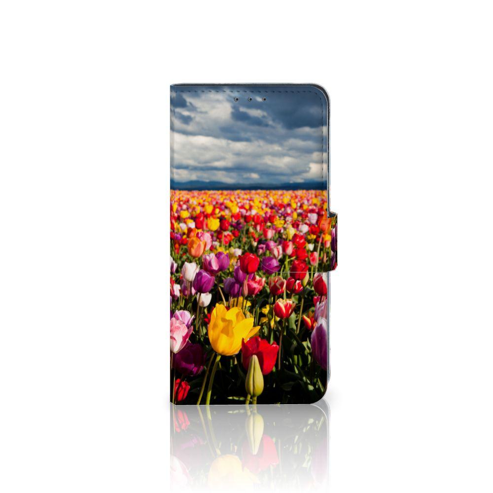 LG V40 Thinq Uniek Boekhoesje Tulpen