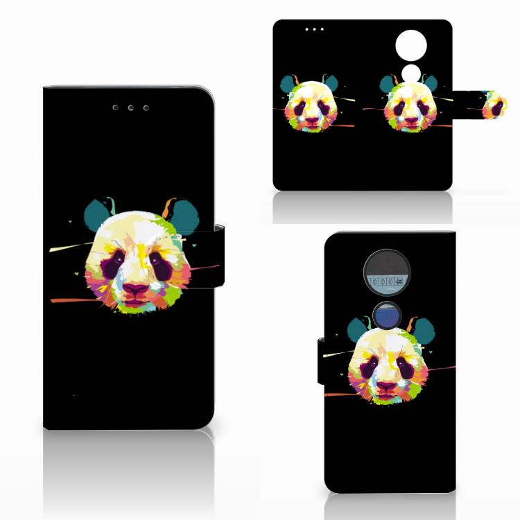Motorola Moto E5 Plus Leuke Hoesje Panda Color