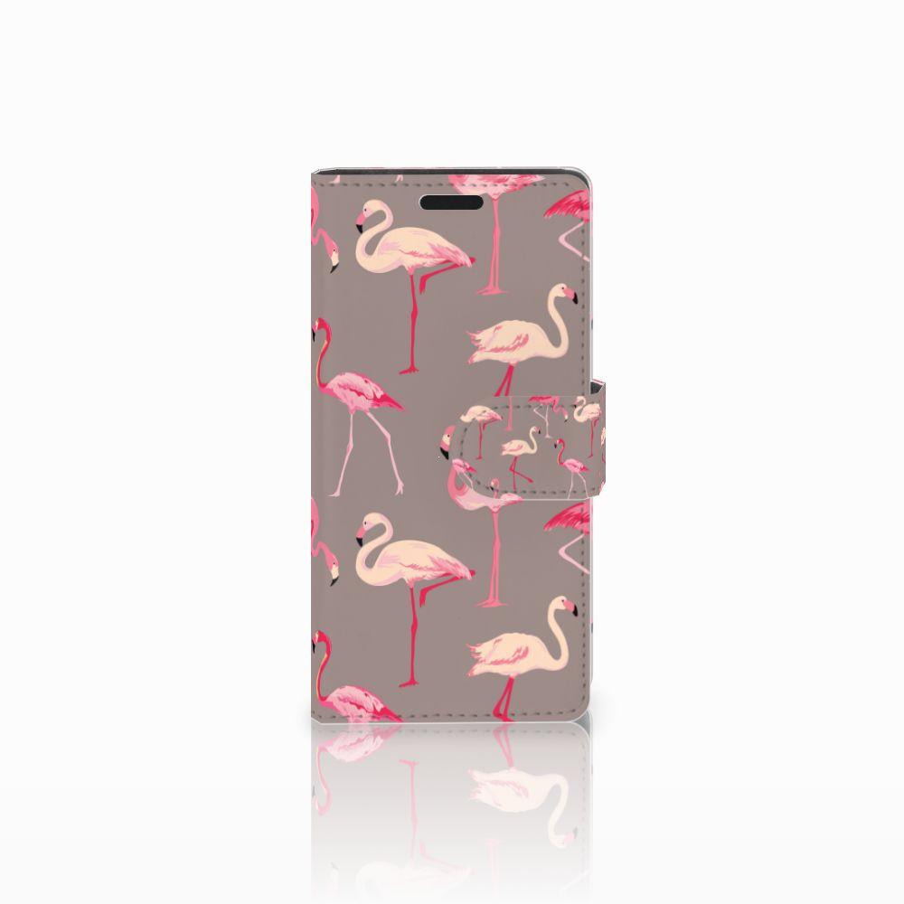 LG Leon 4G Uniek Boekhoesje Flamingo