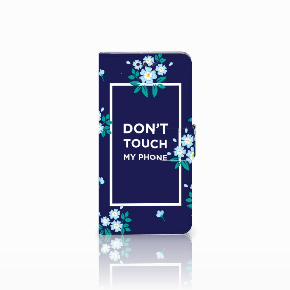 HTC U Play Boekhoesje Flowers Blue DTMP