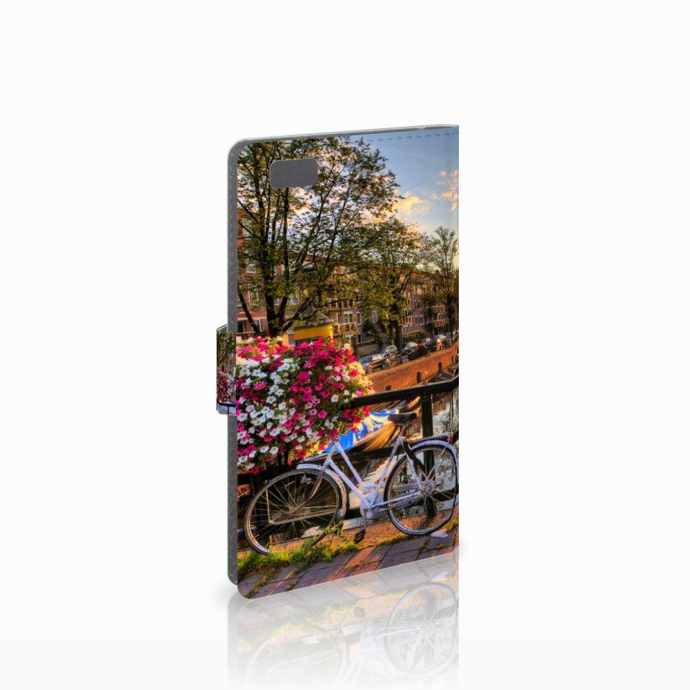Huawei Ascend P8 Lite Uniek Boekhoesje Amsterdamse Grachten