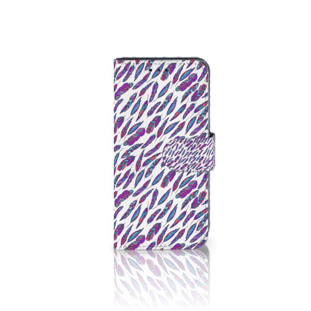 Samsung Galaxy J3 2017 Boekhoesje Design Feathers Color