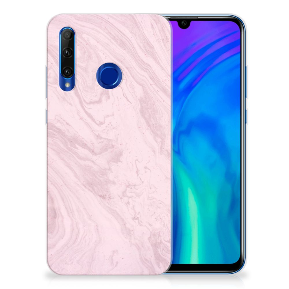 Honor 20 Lite TPU Siliconen Hoesje Marble Pink
