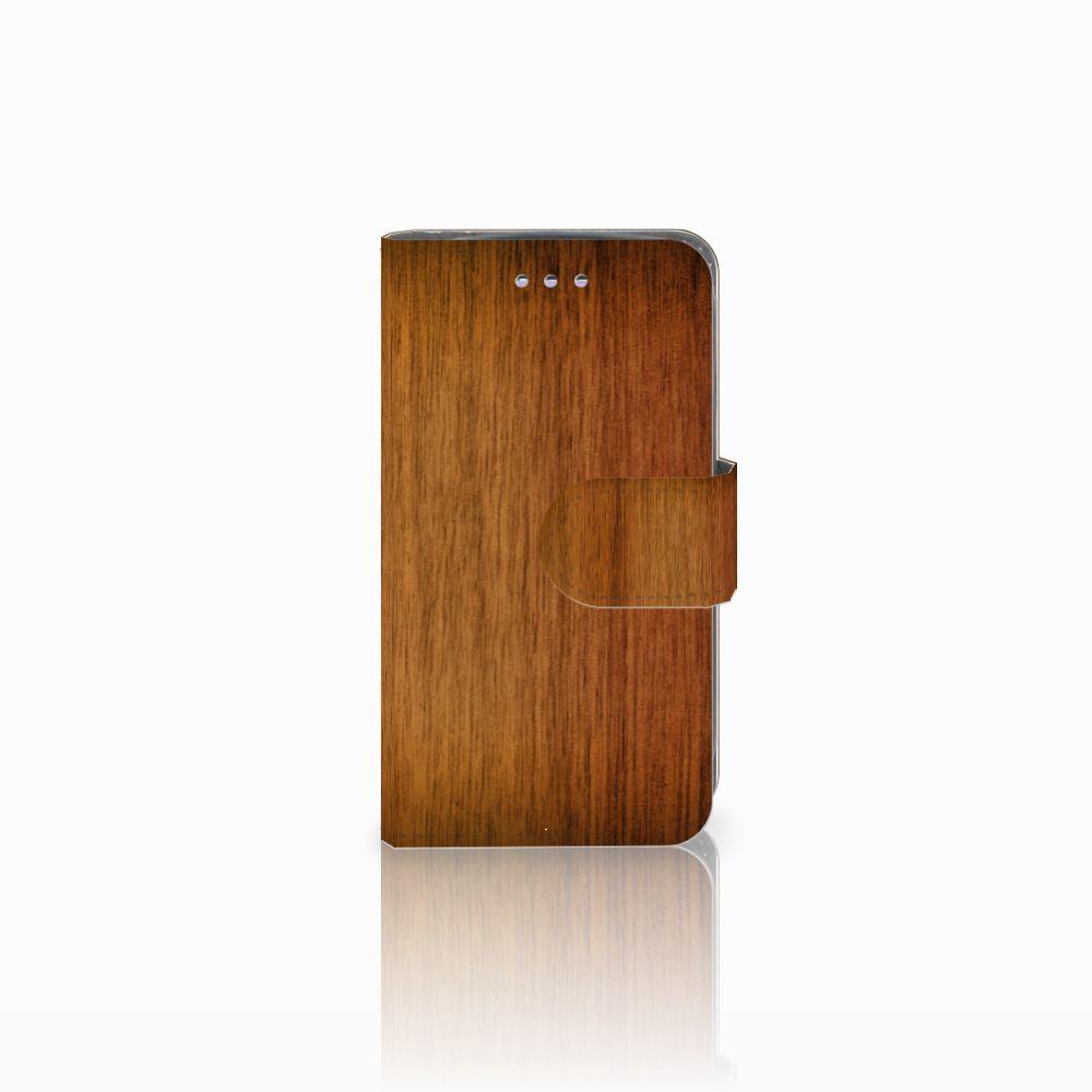 Samsung Galaxy S3 Mini Uniek Boekhoesje Donker Hout