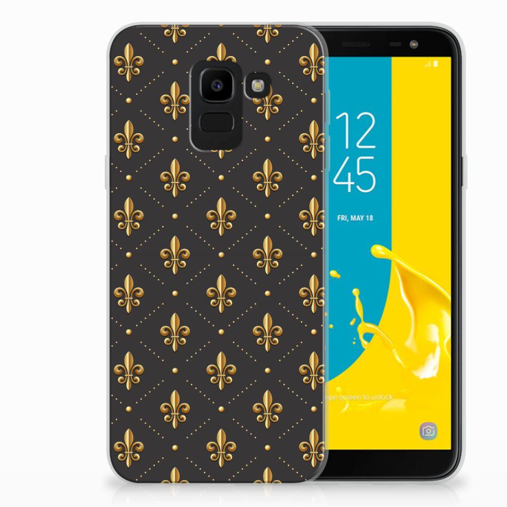 Samsung Galaxy J6 2018 TPU Hoesje Franse Lelie