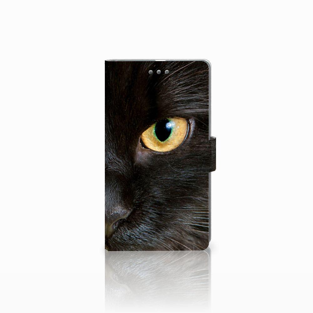 Microsoft Lumia 950 XL Uniek Boekhoesje Zwarte Kat