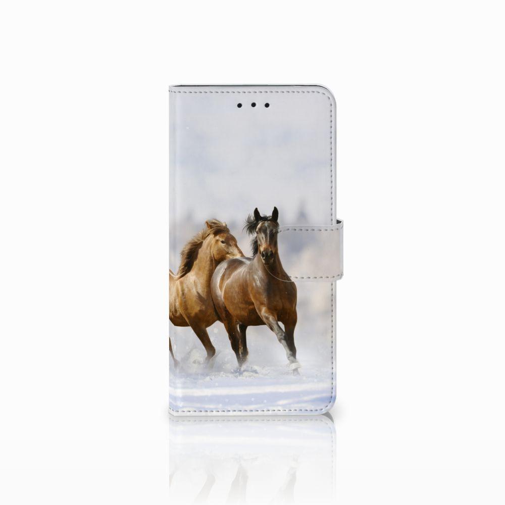 Motorola Moto E5 Uniek Boekhoesje Paarden
