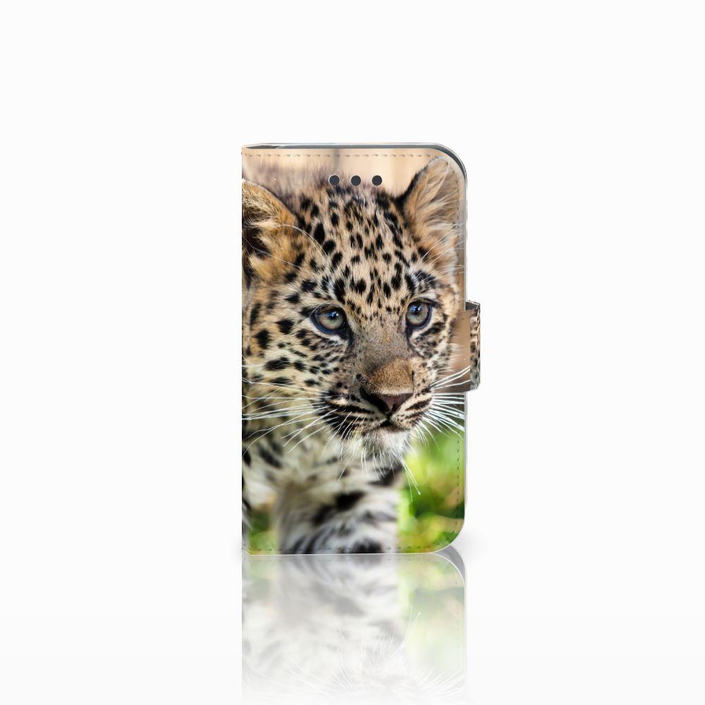 Samsung Galaxy Core 2 Uniek Boekhoesje Baby Luipaard