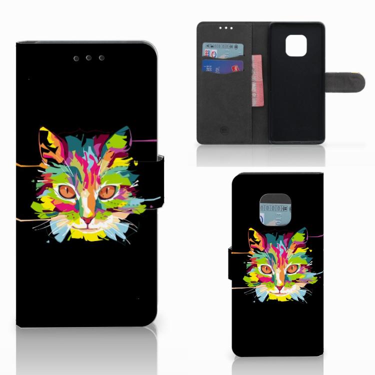 Huawei Mate 20 Pro Leuke Hoesje Cat Color