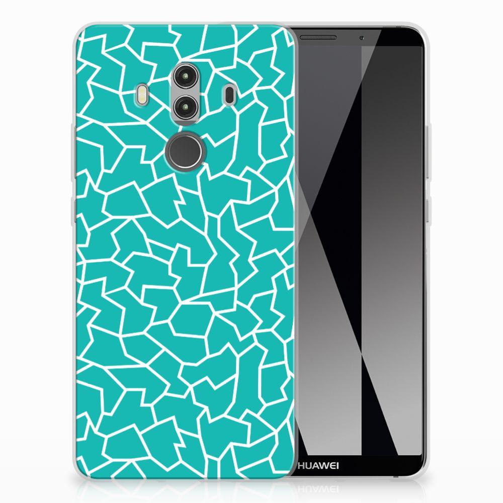 Huawei Mate 10 Pro Hoesje maken Cracks Blue