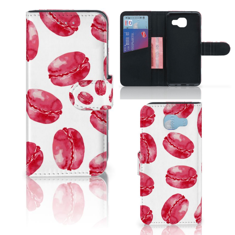 Samsung Galaxy A5 2016 Book Cover Pink Macarons