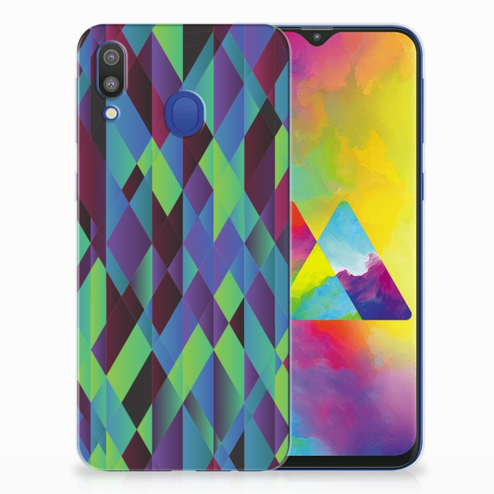 Samsung Galaxy M20 (Power) TPU Hoesje Abstract Green Blue