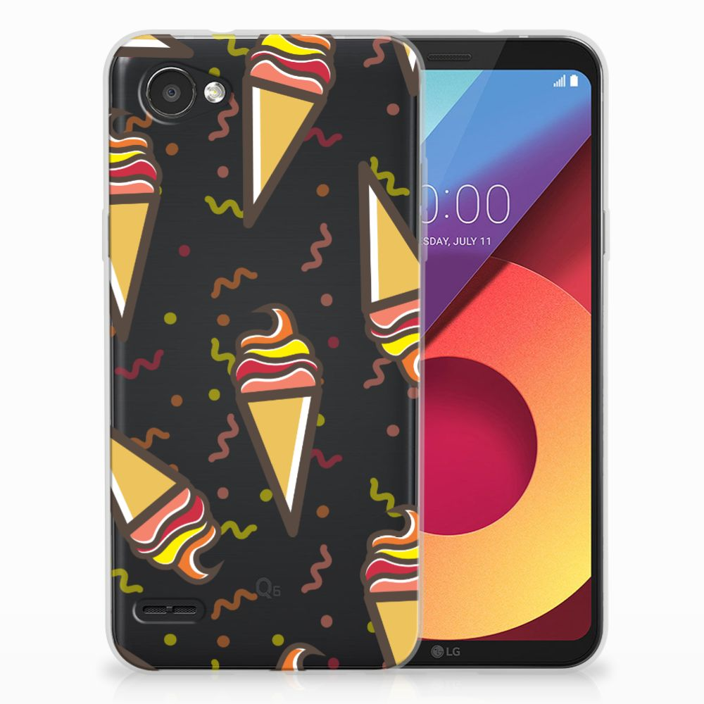 LG Q6 | LG Q6 Plus Siliconen Case Icecream