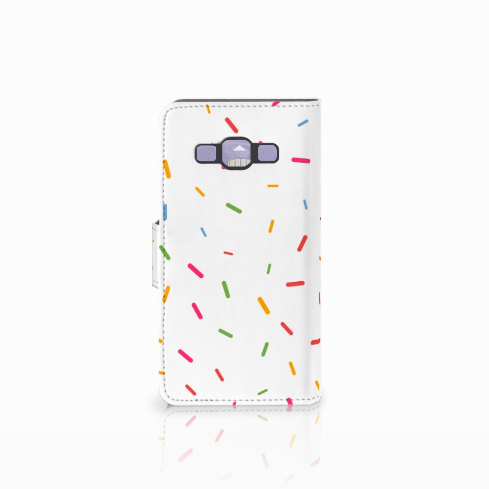 Samsung Galaxy A3 2015 Book Cover Donut Roze