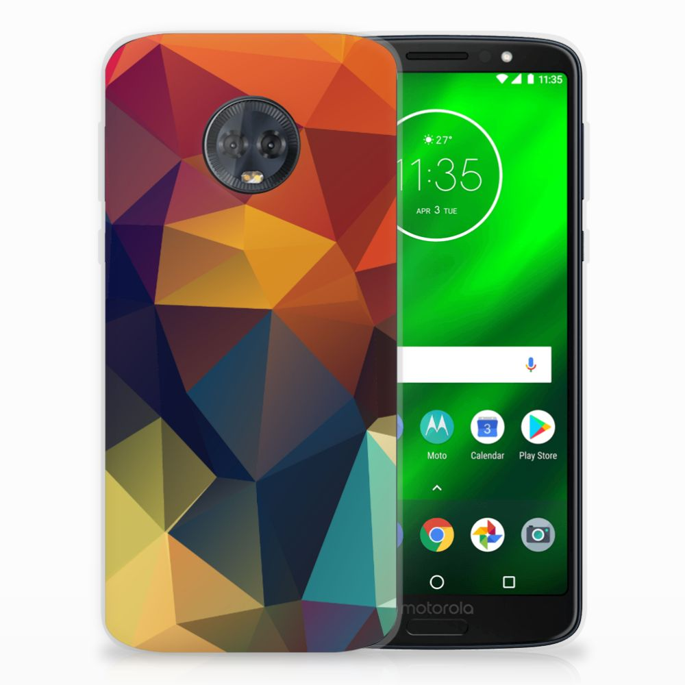 Motorola Moto G6 Plus TPU Hoesje Polygon Color