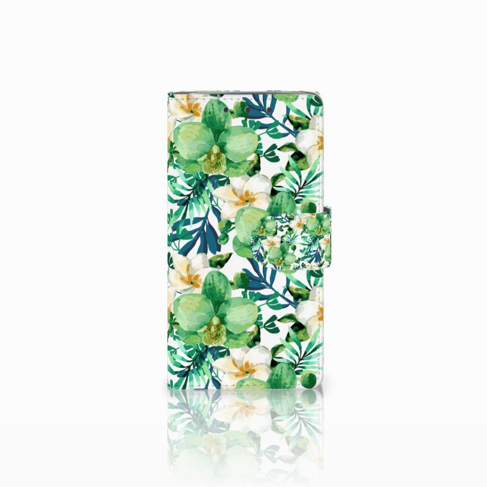 HTC One M7 Uniek Boekhoesje Orchidee Groen