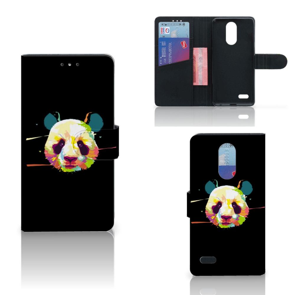 LG K10 (2017) Leuk Hoesje Panda Color