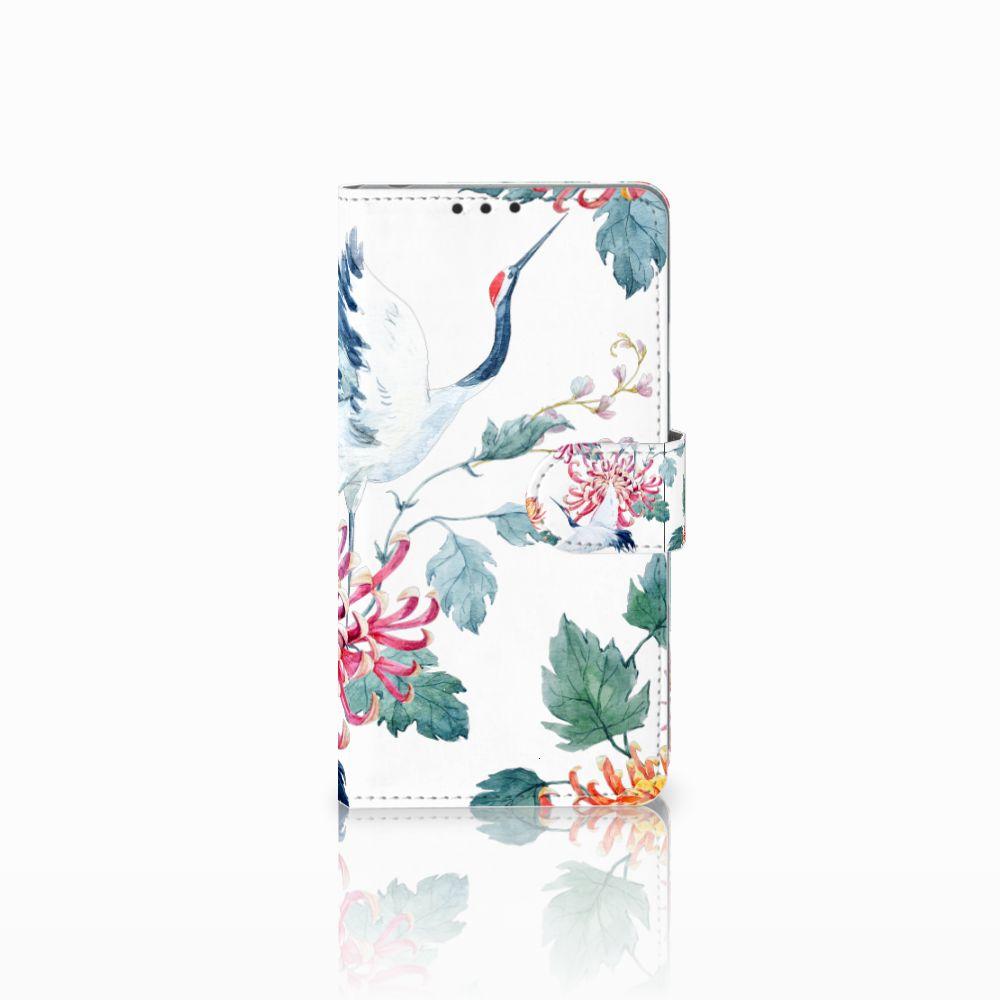 Sony Xperia Z1 Uniek Boekhoesje Bird Flowers