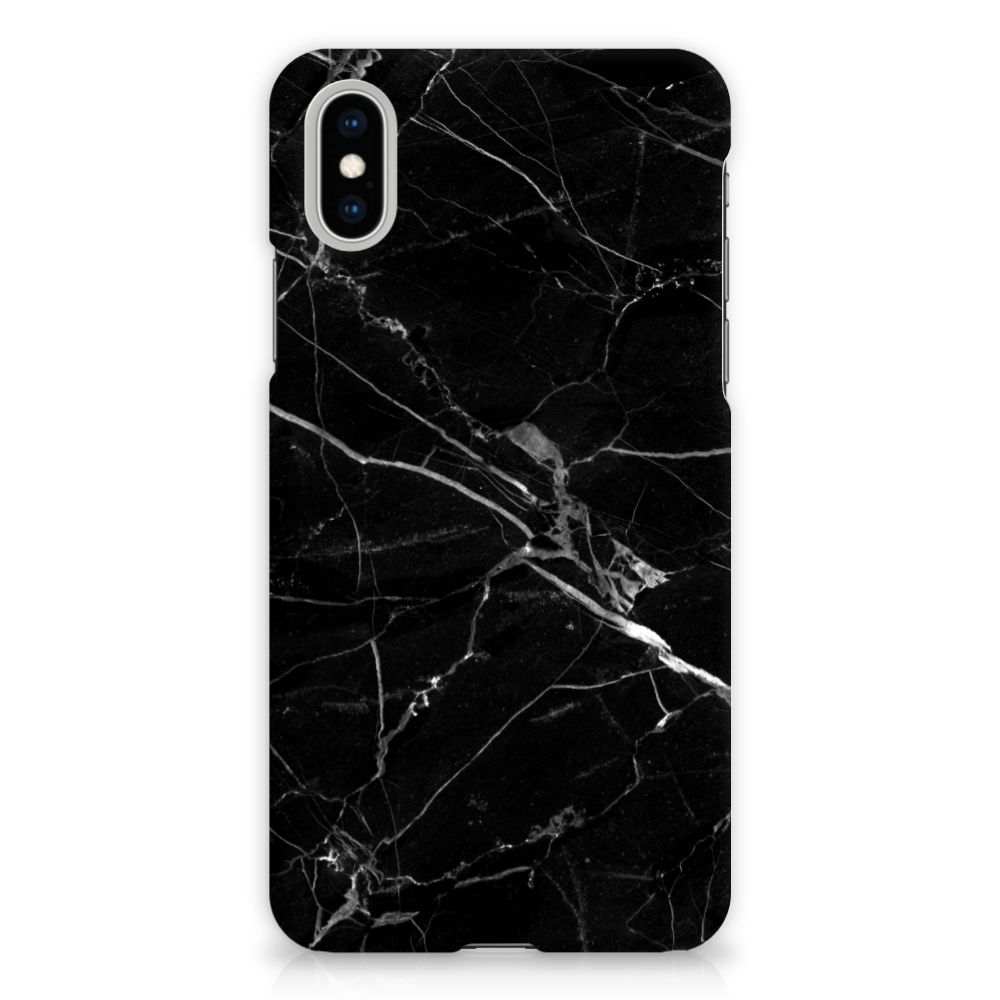 Apple iPhone X | Xs Hardcase Hoesje Marmer Zwart