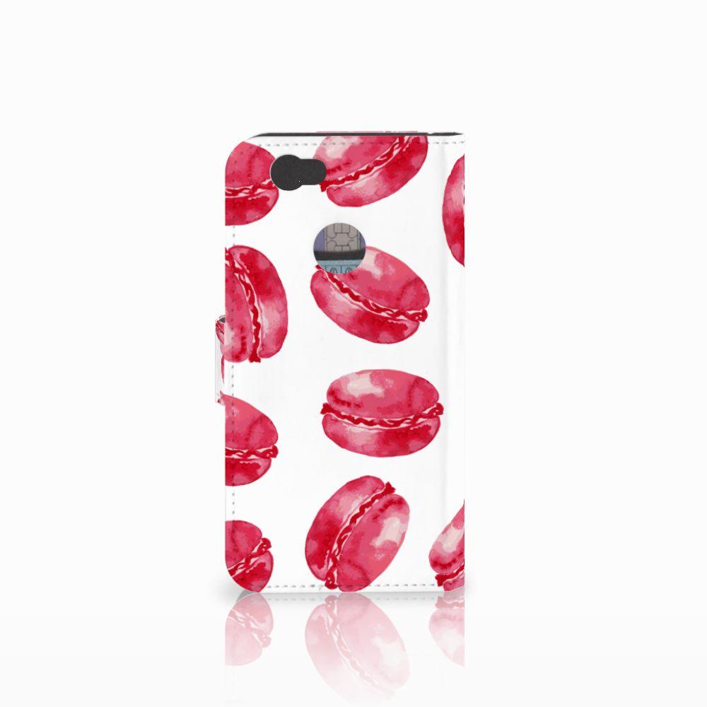 Huawei Nova Book Cover Pink Macarons