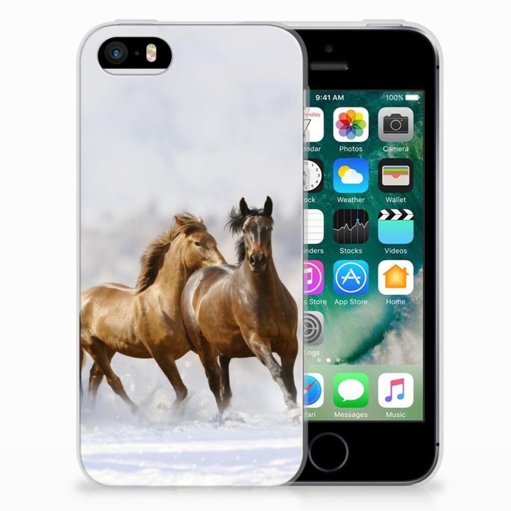 Apple iPhone SE | 5S Uniek TPU Hoesje Paarden